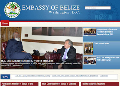 Embassey of Belize Web Site
