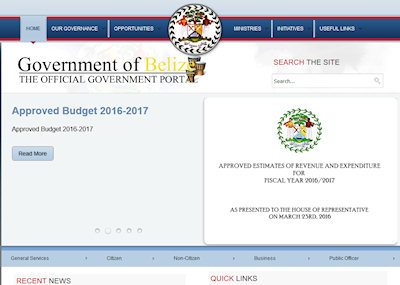 Government of Belize Web Site